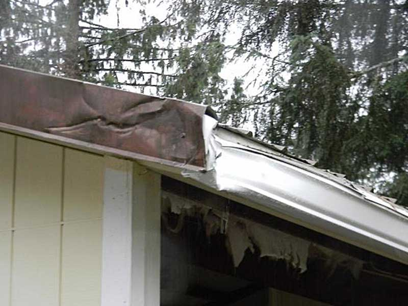 Whoops! That RV did some damage to these Ferndale gutters!