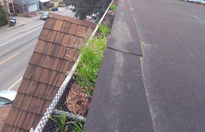 flat area on roof