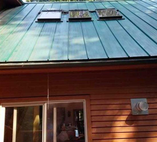 Metal roof needs gutter