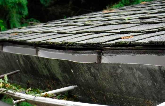 damaged roofing