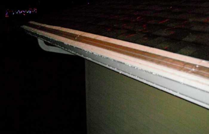 Repaired gutters